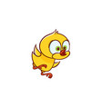 flat cute chicken chick trying to fly vector image vector image