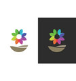 flower colored logo vector image