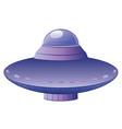 flying saucer design vector image vector image
