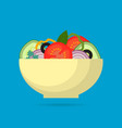 fresh vegetable salad in bowl vector image