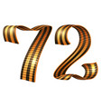 george ribbon shape number 72 anniversary victory vector image vector image