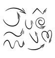 hand drawn doodle arrows vector image vector image