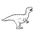 hand drawn doodle t rex vector image vector image