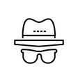 incognito - line design single isolated icon vector image
