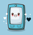 kawaii cellphone emoticon image vector image vector image