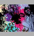 liquid ink background vector image vector image