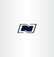 logo n dark blue letter n icon vector image vector image