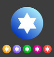 magen david star israel symbol icon flat web sign vector image vector image