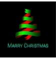Modern abstract christmas tree background vector image vector image