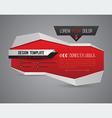 Modern banner 3D style vector image