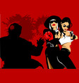 murder vector image vector image
