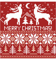 Northern ornament Christmas card vector image vector image