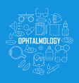ophthalmology concept with thin line icons vector image vector image