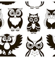 pattern of owls vector image