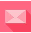 Pink envelope vector image vector image