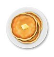plate with pancake isolated white background vector image vector image