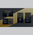 premium luxury business card dark design template vector image vector image