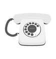 retro telephone isolated on a white background vector image vector image