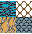 rope seamless patterns set trendy wallpaper vector image vector image