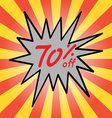 Sale 70 text vector image