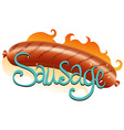 Sausage vector image vector image