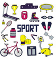 set of sports line art vector image vector image