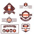 Set of vintage fast food restaurant signs vector image