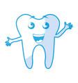 shadow tooth cartoon vector image vector image