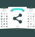 share icon symbol vector image
