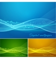 Shiny color waves background vector image vector image