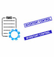 smart contract gear mosaic and scratched rectangle vector image vector image