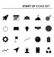 startup and business icons set design vector image vector image