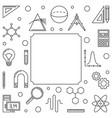 stem education simple square frame outline vector image