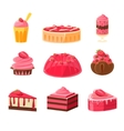 Strawberry Sweets Set vector image