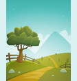 summer countryside landscape vector image vector image