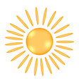 sun sign icon vector image vector image