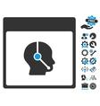 Telemarketing Operator Calendar Page Icon vector image vector image