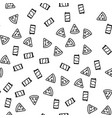 traditional food pizza pepperoni seamless pattern vector image