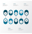 transportation icons line style set with duty free vector image