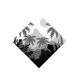 tropical scenery with palm trees and mountain vector image vector image