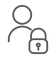 user unlocked line icon privacy and safety vector image vector image