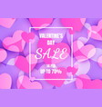 valentines day sale banner with heart abstract vector image
