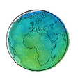 watercolor earth vector image vector image