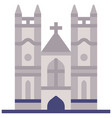 westminster abbey flat vector image vector image