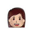 Woman face smile character cartoon
