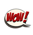 wow comic bubble vector image vector image