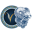 Zodiac signs - Aries vector image vector image