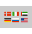 Set of flags stylized flags from geometry Russia vector image