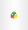 color cube box icon logotype design vector image