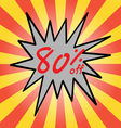 Sale 80 text vector image
